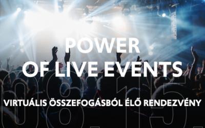 Power of Live Events: élő rendezvénysorozat a szakmai összefogásért szeptember 10-én