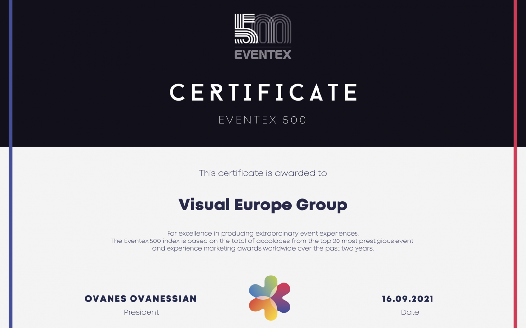 Eventex 500: a világ legsikeresebb rendezvénytechnikai cégei közé kerültünk!